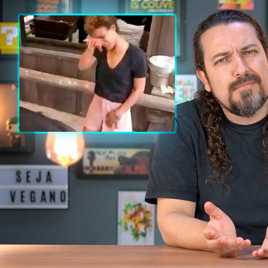 """Participante """"vegana"""" chora ao ordenhar vaca em A Fazenda"""