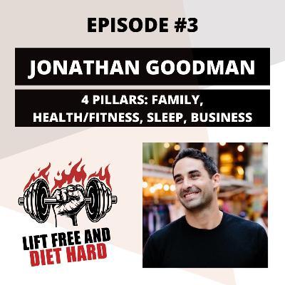 EP 3 Jonathan Goodman: 4 Pillars: Family, Health/Fitness, Sleep, Business
