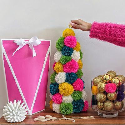 The Bright Pink Yarn Machine