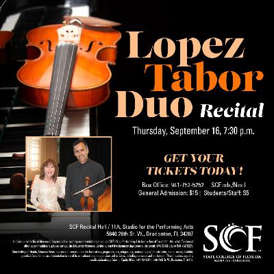 The Lopez Tabor Duo, Violinist Alfonso Lopez and Pianist Michelle Tabor, Joins the Club