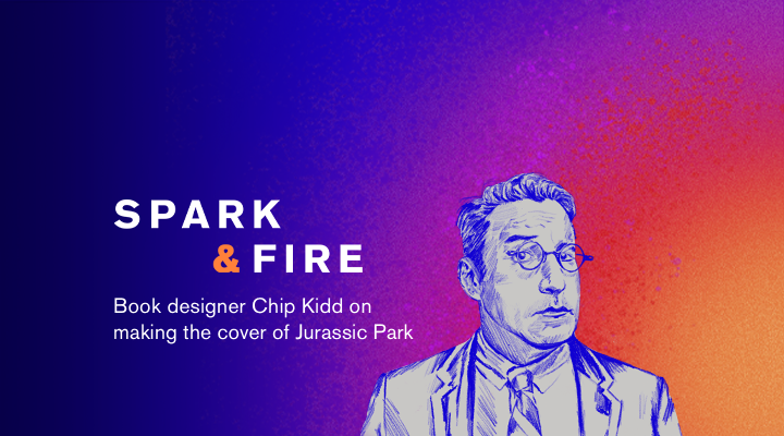 "Chip Kidd on the ""Jurassic Park"" book cover"