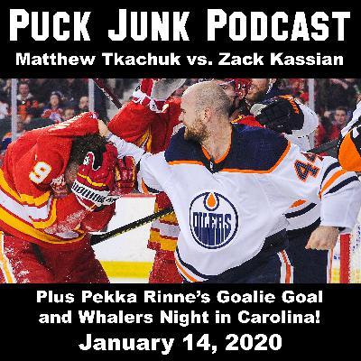 Matthew Tkachuk vs. Zack Kassian   #42   1/14/2019