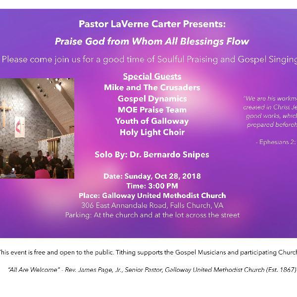Gospel Music Concert: Praise God From Whom All Blessings Flow