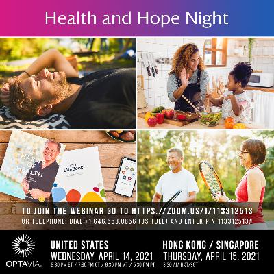 Episode 220: Health and Hope night 4.14.21