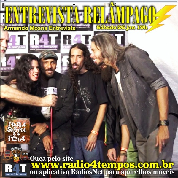 Rádio 4 Tempos - Entrevista Relâmpago 43