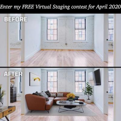 Episode 258: Enter my FREE virtual staging contest offer for April 2020