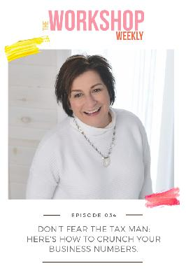 034: Don't Fear the Tax Man: Here's How to Crunch Your Business Numbers.