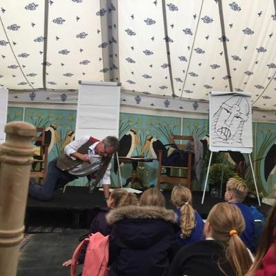 Martin Brown: Drawing Is For Everyone! At North Cornwall Book Festival