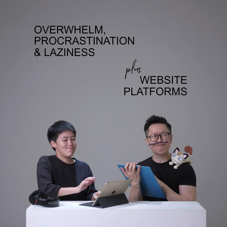 Ep #30 - Overwhelm, Procrastination & Laziness + Website Platforms