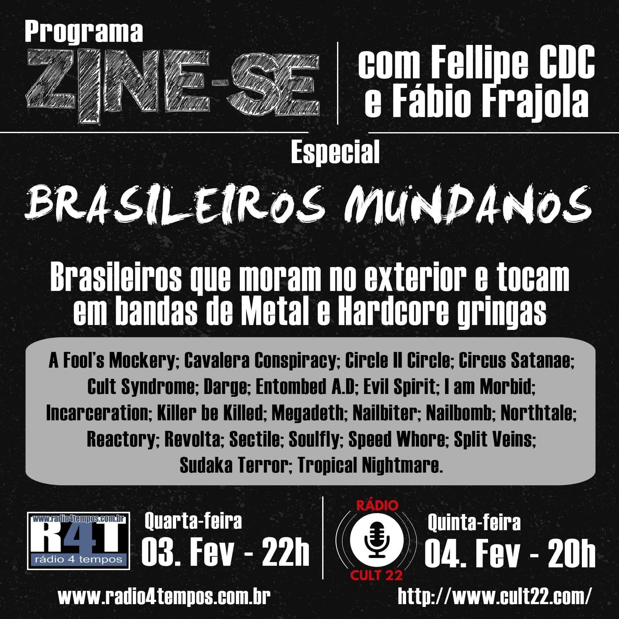 Rádio 4 Tempos - Zine-se 208:CdC e Frajola