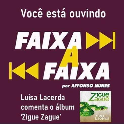 Luisa Lacerda apresenta o álbum 'Zigue Zague'