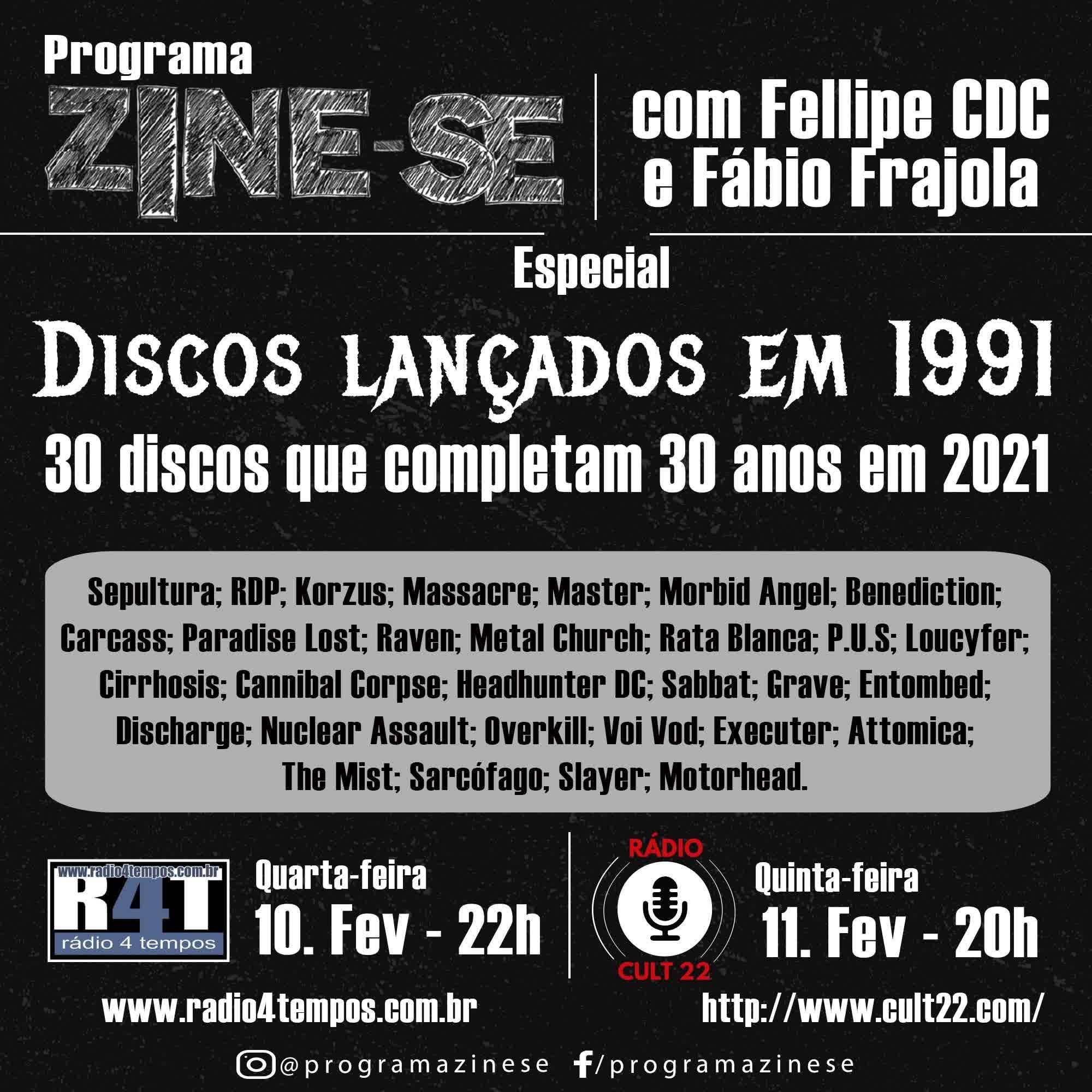 Rádio 4 Tempos - Zine-se 209:CdC e Frajola