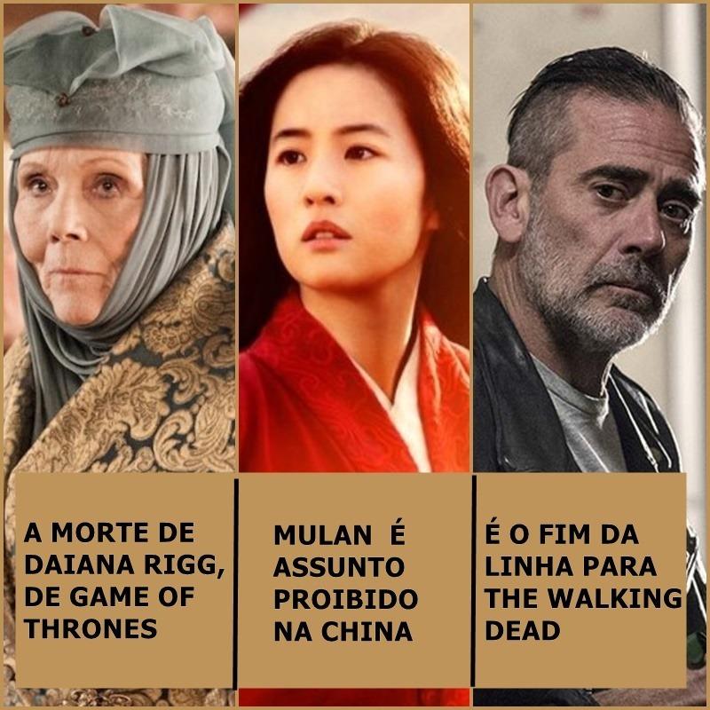 Morre Daina Rigg, Mulan é proibido na China, É fim para The walking Dead e mais | Uaicast #55