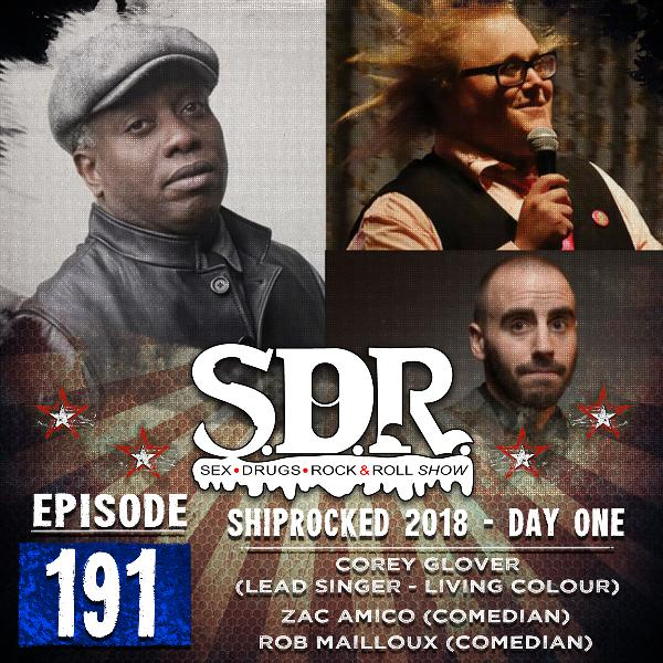 Corey Glover, Zac Amico & Rob Mailloux (Singer Of Living Colour & Comedians) - Shiprocked 2018 - Day One