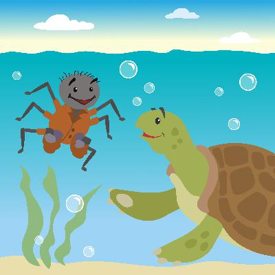 Discover How What Goes Around Comes Around in this Trickster Tale - Storytelling Podcast for Kids - Anansi and Turtle E:112