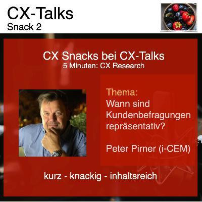 CX Snack 2: Wann sind Kundenbefragungen repräsentativ?