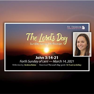 """The Lord's Day"" Gospel Reflection by Andrea Bator (John 3:14-21, for March 14, 2021)"