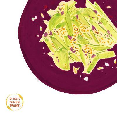 Salade de nouilles de chou rave