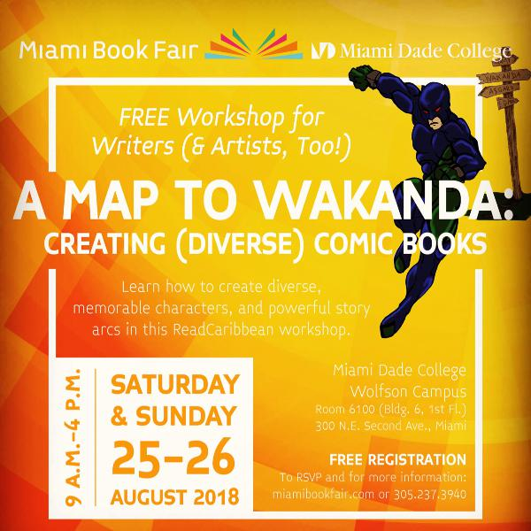 Publishing your Comic Book, part of the READCARRIBEAN/MIAMI BOOK FAIR