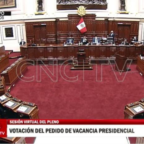 11-09-2020 - votación del Congreso -Peru - vacancia Vizcarra