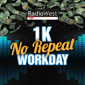 RadioWest's 1K No Repeat Workday - Vanessa takes away the cash!