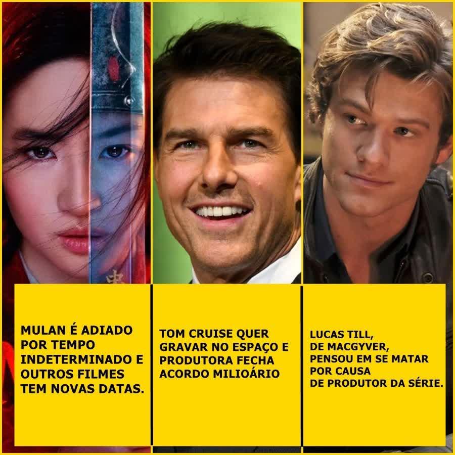 Mulan é adiado por tempo indeterminado, Tom Cruise que gravar no espaço, Lucas Till pensou em se matar por causa de produtor e mais | Uaicast #48,