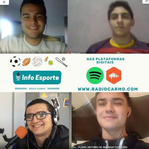 Rádio Carmo   Apresentadores do Info Esporte entrevistam o Secretário de Esportes de Guaratinguetá