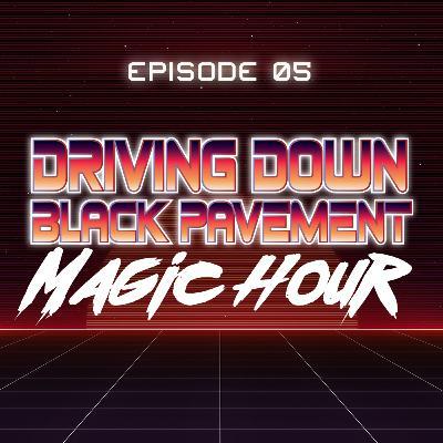 Driving Down Black Pavement - Magic Hour