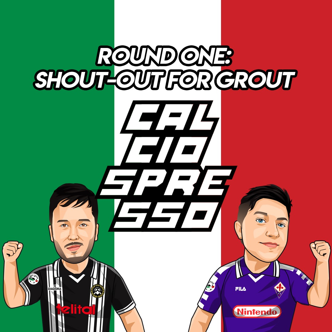 CALCIOSPRESSO: Round One: Shout-out for Grout