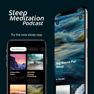 SLEEPY OCEAN WAVES w/ short sleep meditation intro from the sleep app, Slow. Sweet dreams 😴