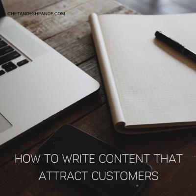 Creating Content that attract customers