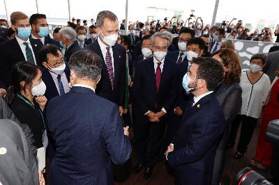 La prensa destaca el encuentro entre el Rey Felipe VI y Pere Aragonès en Cataluña