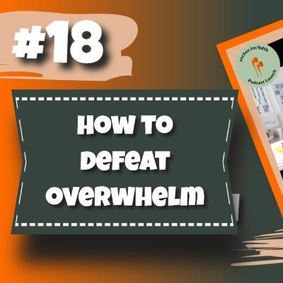 Episode 18 - How To Defeat Overwhelm - Noel Matthews & Jacquie Lundie