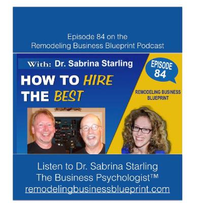 84 – How To Hire The Best With Dr. Sabrina Starling
