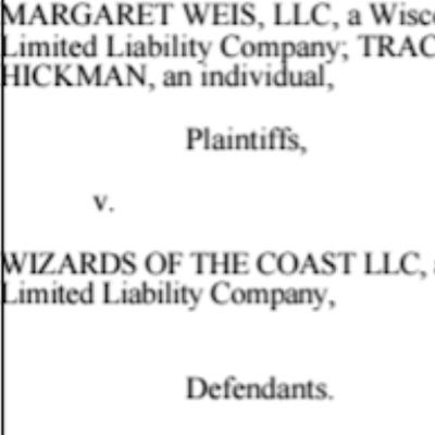 E865 - Weis & Hickman Sue WotC for Breach of Contract