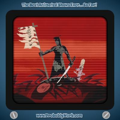 "Samurai Jack, S01E03, ""The Premiere Movie, Part 3: The First Fight"""