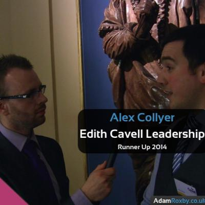 Alex Collyer ~ Runner Up, Edith Cavell Leadership Award 2014