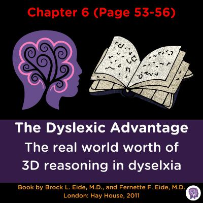 #54 The real world implications of 3D thinking for dyslexia (Dyslexic Advantage Ch 6 p.53-56)