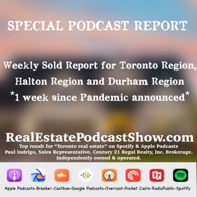 SPECIAL SOLD REPORT: Week 1 update since pandemic alert issued