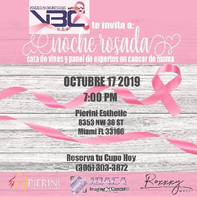 Noche Rosada - Prevención del cáncer de seno y cata de vinos