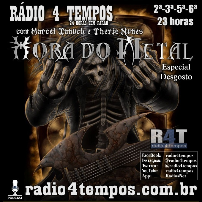 Rádio 4 Tempos - Hora do Metal 186:Marcel Ianuck e Therje Nunes