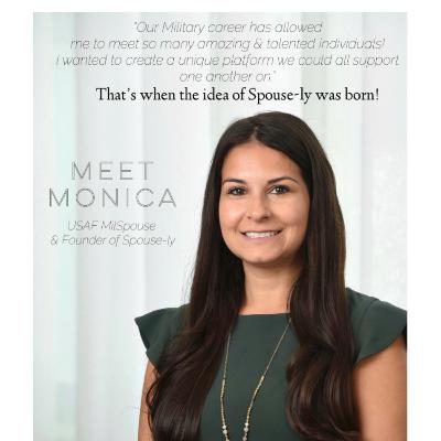 Monica Fullerton- Founder of Spouse-ly, Milspouse and Mompreneur- Connecting the Military Community