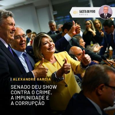 Senado dá show contra a impunidade e a corrupção