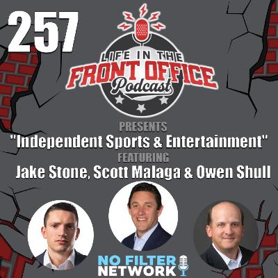 Properties and Players with Independent Sports & Entertainment's executives, Scott Malaga, Owen Shull, and Jake Stone