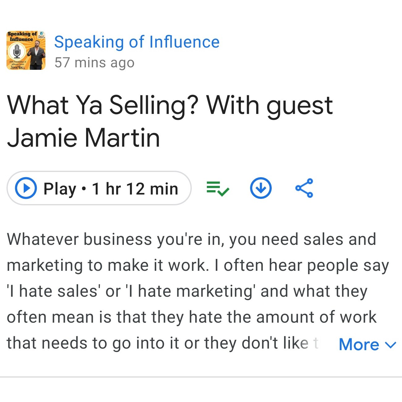Speaking of Influence - Podcast Guest