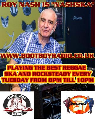Nashska With Roy Nash 15th September 2020 On www.bootboyradio.co.uk