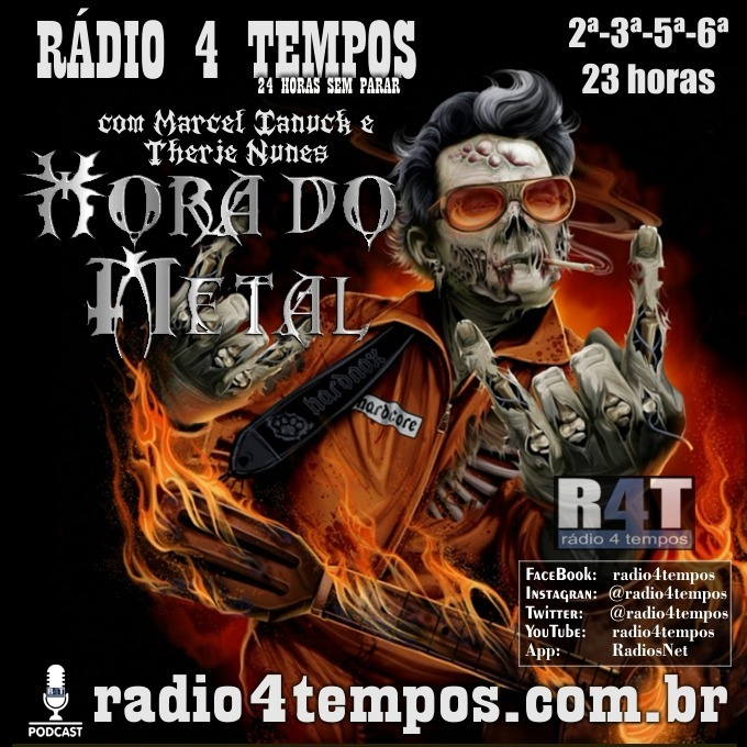 Rádio 4 Tempos - Hora do Metal 185:Marcel Ianuck e Therje Nunes