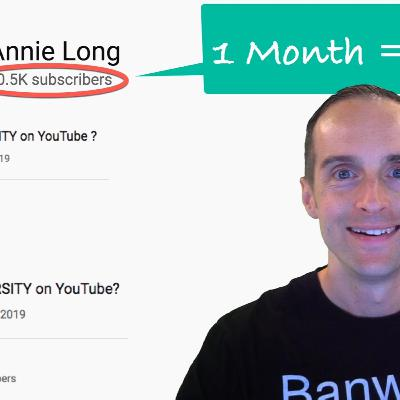 How Annie Long Got 50,000 Subscribers in One Month on YouTube!