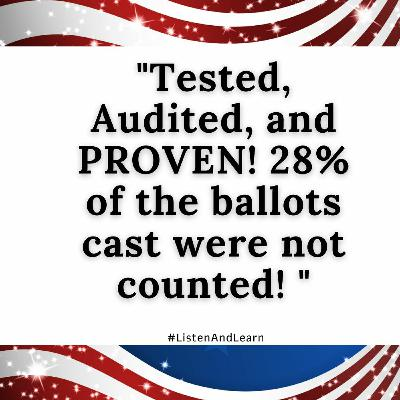 What? 28% Of The Ballots Cast Were Not Counted! #WTF