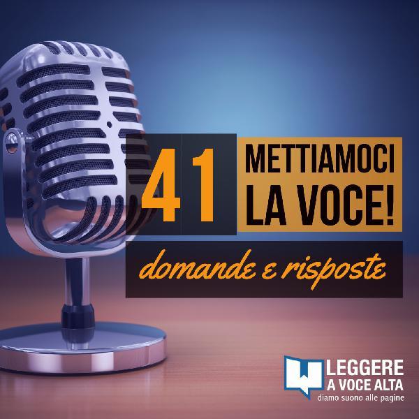 41 - Q/A Ritmo, melodia, articolazione quale aspetto piu importante nella lettura a voce alta